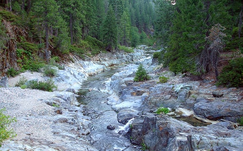 Gold Bearing Stream in PLumas National Forest, Ca, Favored by Gold Snipers